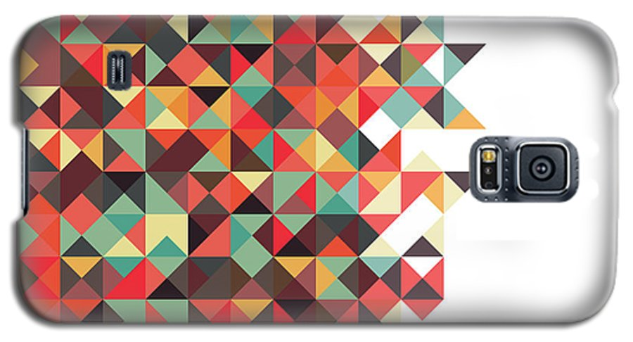 Pattern Galaxy S5 Case featuring the digital art Geometric Art by Mike Taylor