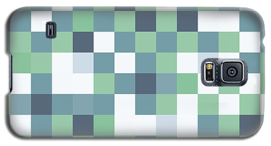 Abstract Galaxy S5 Case featuring the digital art Pixel Art 87 by Mike Taylor