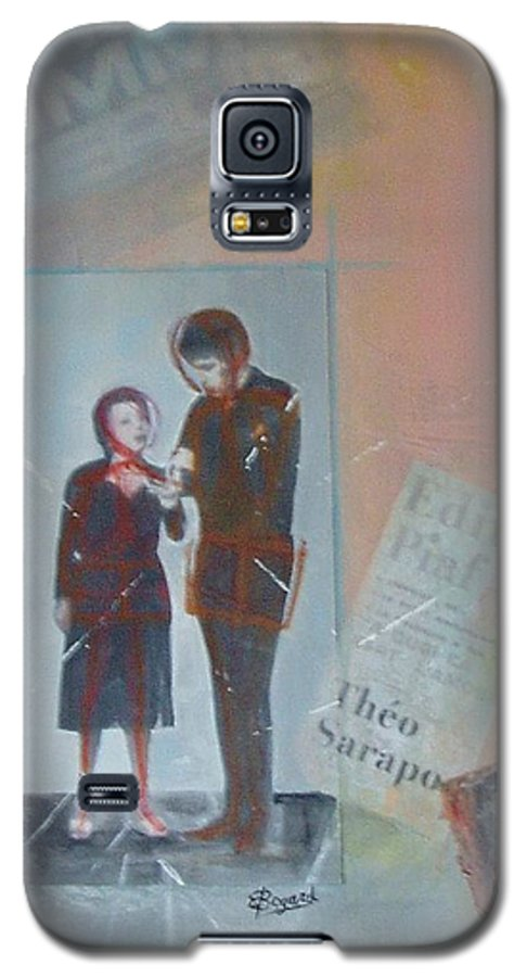 Edith Piaf Galaxy S5 Case featuring the mixed media A Cuoi Ca Sert L'mour Or What Else Is There But Love by Elizabeth Bogard