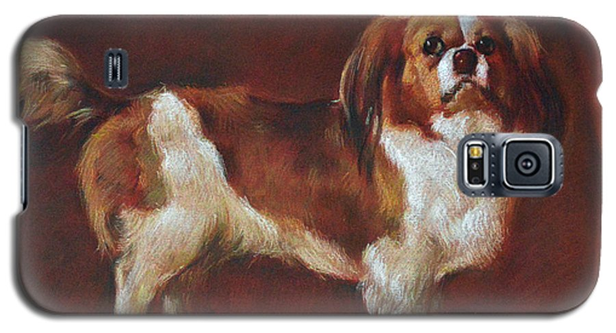 Pastel Galaxy S5 Case featuring the painting A King Charles Spaniel by Iliyan Bozhanov