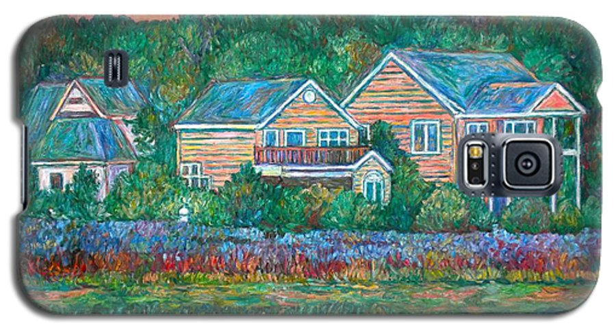 Landscape Galaxy S5 Case featuring the painting Across The Marsh At Pawleys Island    by Kendall Kessler
