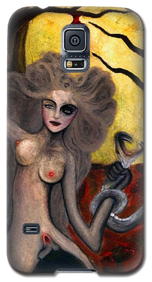 Aykaayka.com Galaxy S5 Case featuring the painting Adam And Eve by Ayka Yasis