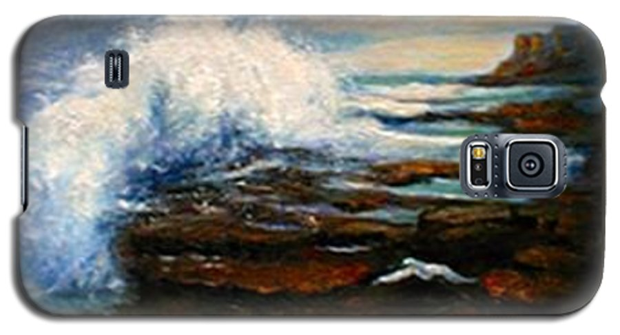 Seascape Galaxy S5 Case featuring the painting After The Storm by Gail Kirtz