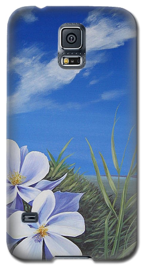 Landscape Galaxy S5 Case featuring the painting Afternoon High by Hunter Jay