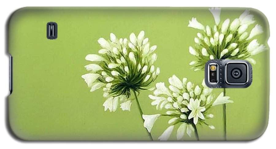 Flower Galaxy S5 Case featuring the painting Agapanthus by Trisha Lambi
