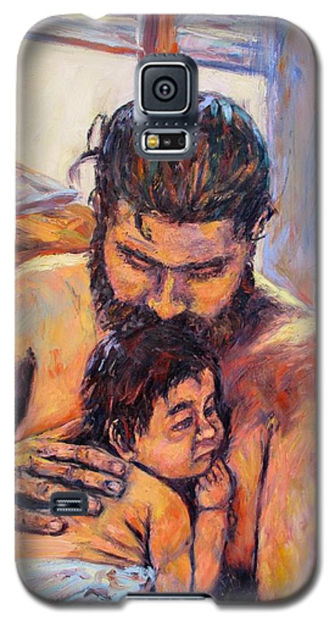 Kendall Kessler Galaxy S5 Case featuring the painting Alan And Clyde by Kendall Kessler