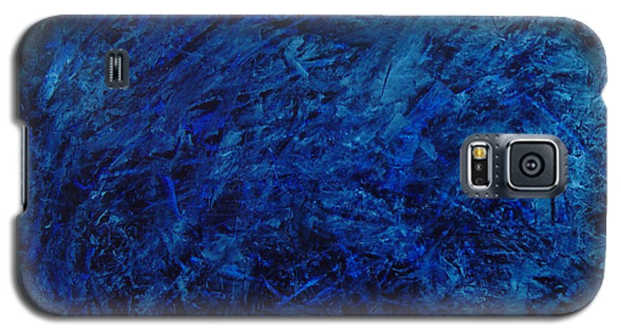 Abstract Galaxy S5 Case featuring the painting Alans Call by Dean Triolo