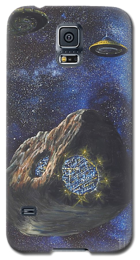 Painting Galaxy S5 Case featuring the painting Alien Space Factory by Murphy Elliott