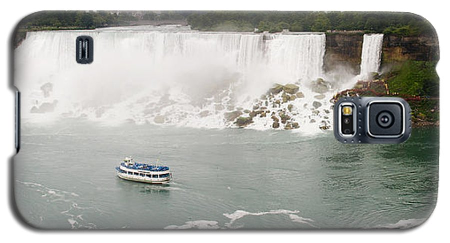 3scape Galaxy S5 Case featuring the photograph American Falls by Adam Romanowicz