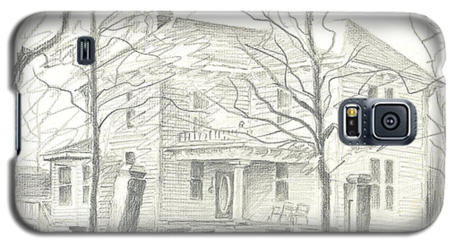 American Home Ii Galaxy S5 Case featuring the drawing American Home II by Kip DeVore