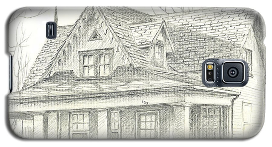 American Home Galaxy S5 Case featuring the drawing American Home by Kip DeVore
