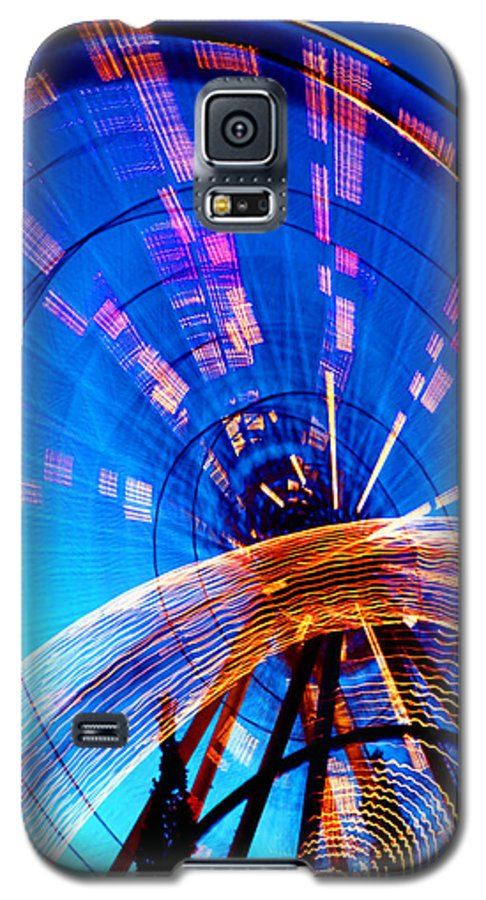 Amusement Park Galaxy S5 Case featuring the photograph Amusement Park Rides 1 by Steve Ohlsen