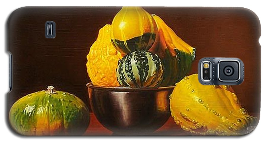 Still Life Galaxy S5 Case featuring the painting An Arrangement Of Gourds by Gary Hernandez