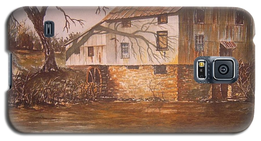 Landscape Galaxy S5 Case featuring the painting Anderson Mill by Ben Kiger