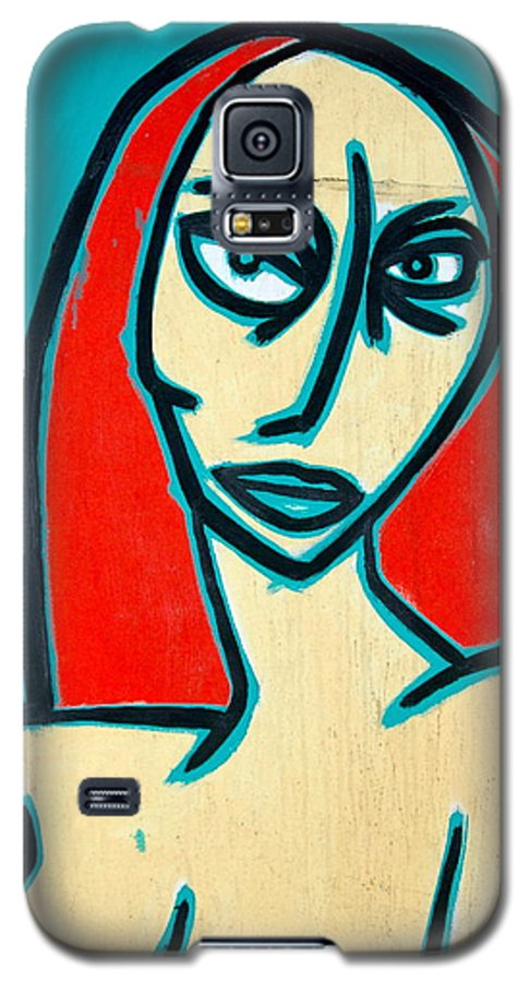 Oil Galaxy S5 Case featuring the painting Angry Jen by Thomas Valentine