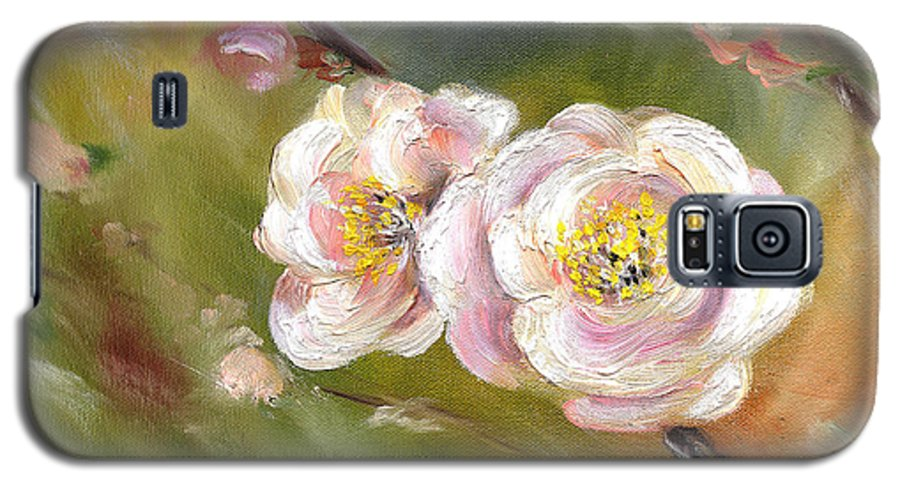 Flower Galaxy S5 Case featuring the painting Anniversary by Hiroko Sakai