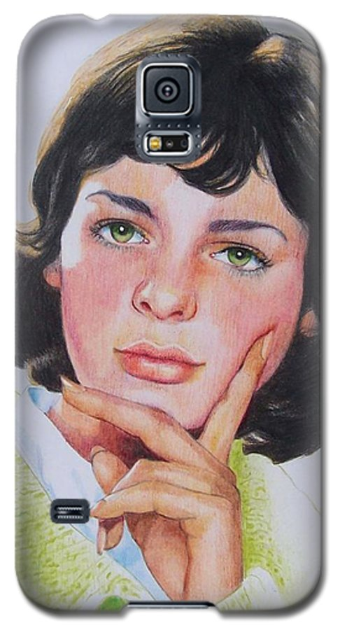 Portrait Galaxy S5 Case featuring the mixed media Ariane by Constance Drescher