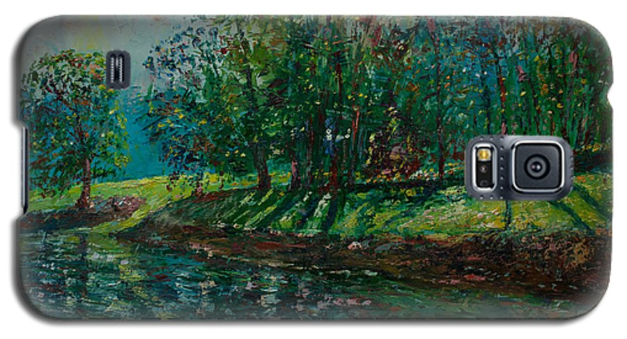 Oil Galaxy S5 Case featuring the painting At Carondelet Park by Horacio Prada