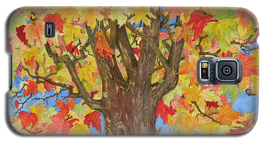 Leaves Galaxy S5 Case featuring the painting Autumn Leaves 1 by Mary Ellen Mueller Legault