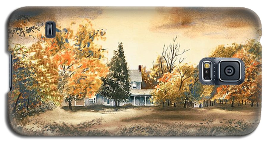 Autumn Sky No W103 Galaxy S5 Case featuring the painting Autumn Sky No W103 by Kip DeVore
