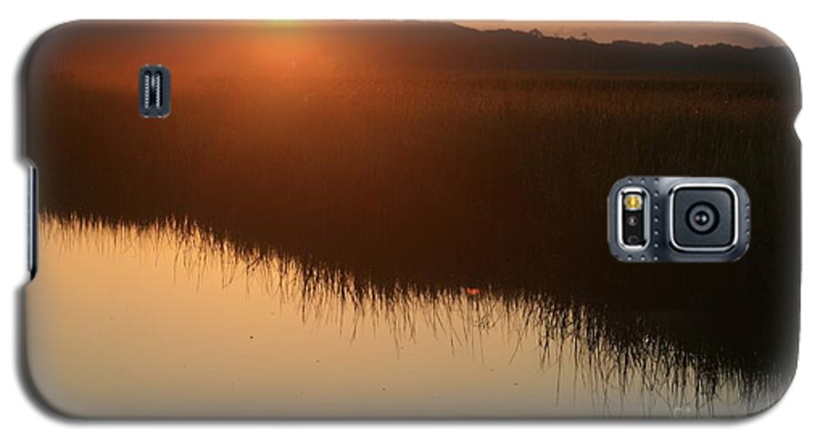 Sunrise Galaxy S5 Case featuring the photograph Autumn Sunrise Over The Marsh by Nadine Rippelmeyer