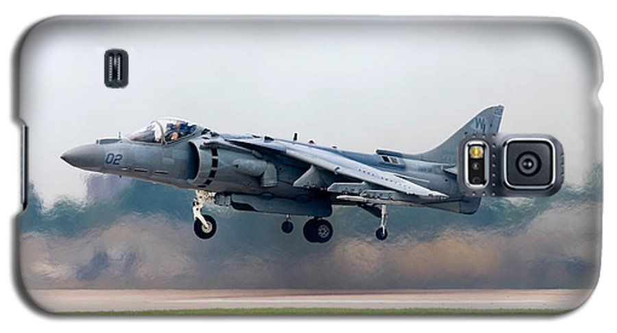 3scape Photos Galaxy S5 Case featuring the photograph Av-8b Harrier by Adam Romanowicz