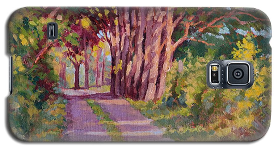 Road Galaxy S5 Case featuring the painting Backroad Canopy by Keith Burgess