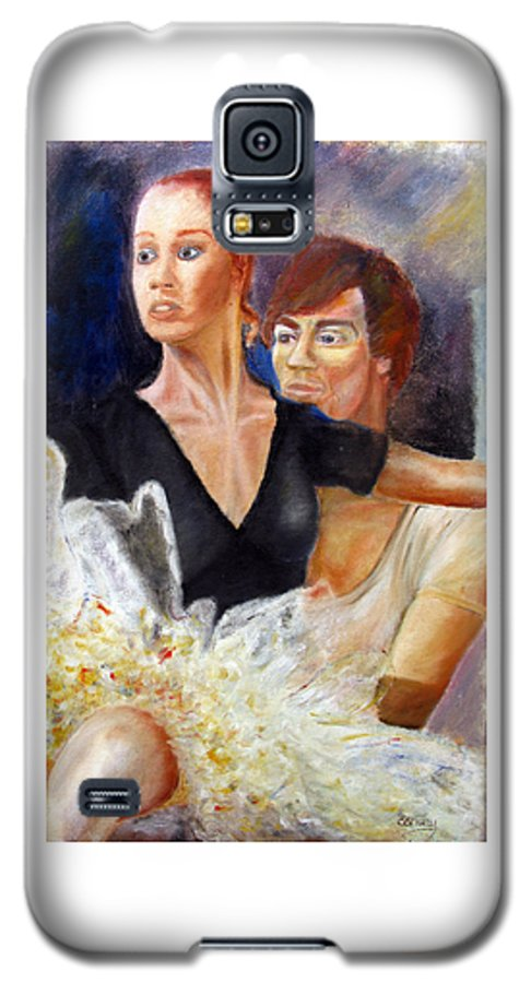 Ballet Galaxy S5 Case featuring the painting Ballet Dancers Rehearse For La Bayadere by Tom Conway