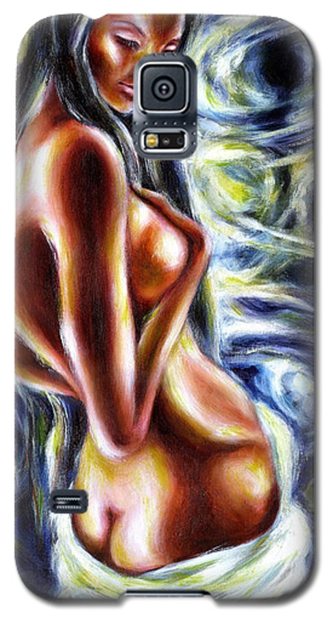 Bathing Galaxy S5 Case featuring the painting Bathing In Moon Light by Hiroko Sakai