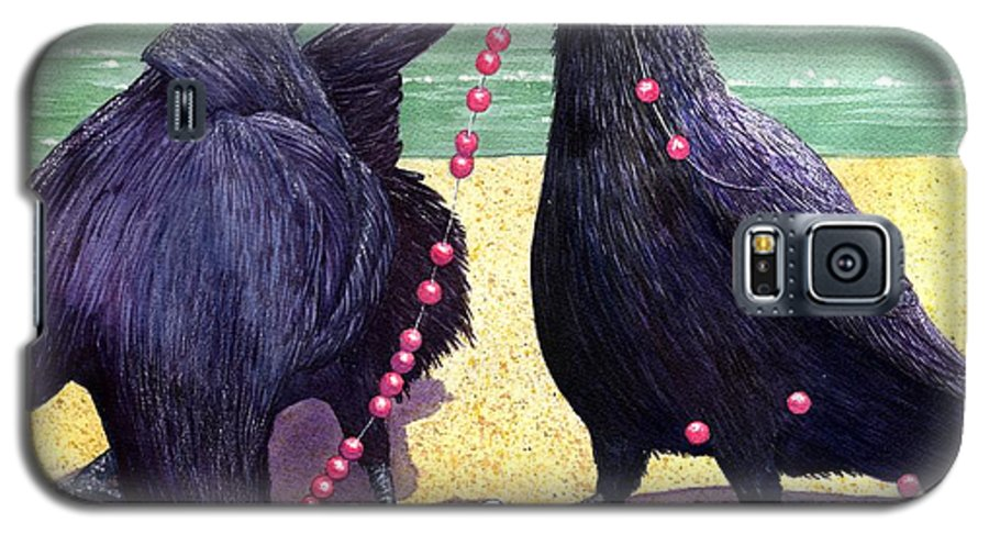 Raven Galaxy S5 Case featuring the painting Baubles by Catherine G McElroy