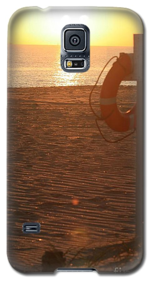 Beach Galaxy S5 Case featuring the photograph Beach At Sunset by Nadine Rippelmeyer