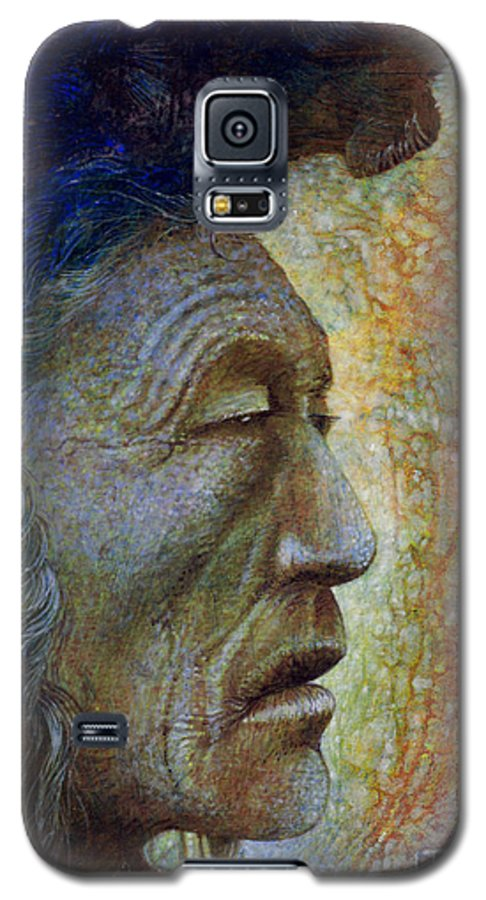 Bear Bull Galaxy S5 Case featuring the painting Bear Bull Shaman by Otto Rapp