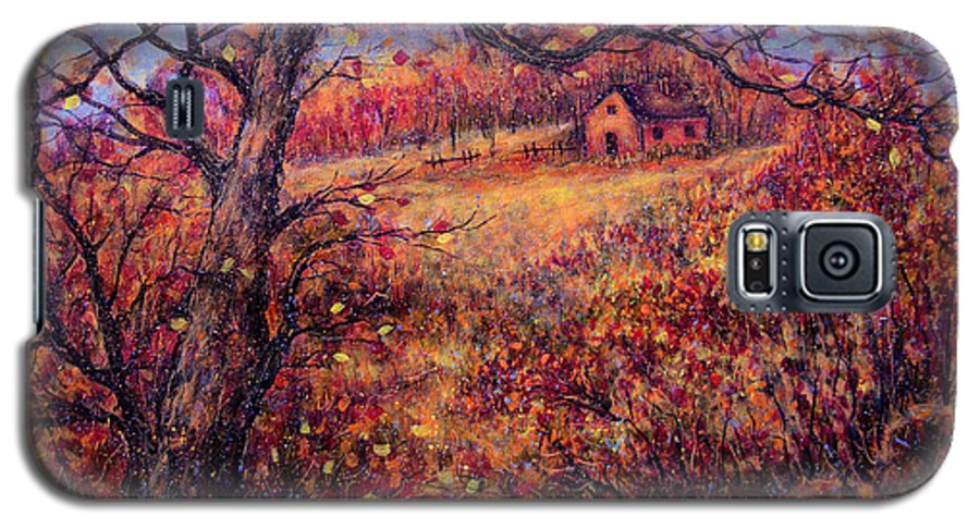 Autumn Galaxy S5 Case featuring the painting Beautiful Autumn by Natalie Holland