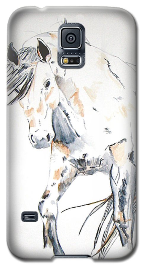 Horse Galaxy S5 Case featuring the painting Beauty by Crystal Hubbard