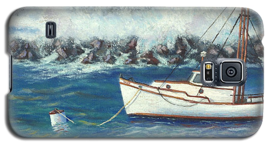 Ocean Galaxy S5 Case featuring the painting Behind The Breakwall by Jerry McElroy