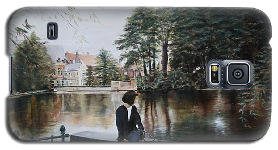 Water Galaxy S5 Case featuring the painting Belgium Reflections In Water by Jennifer Lycke