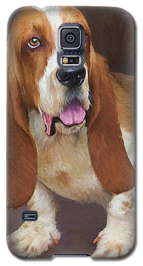 Bassett Hound Galaxy S5 Case featuring the painting Bert by David Wagner