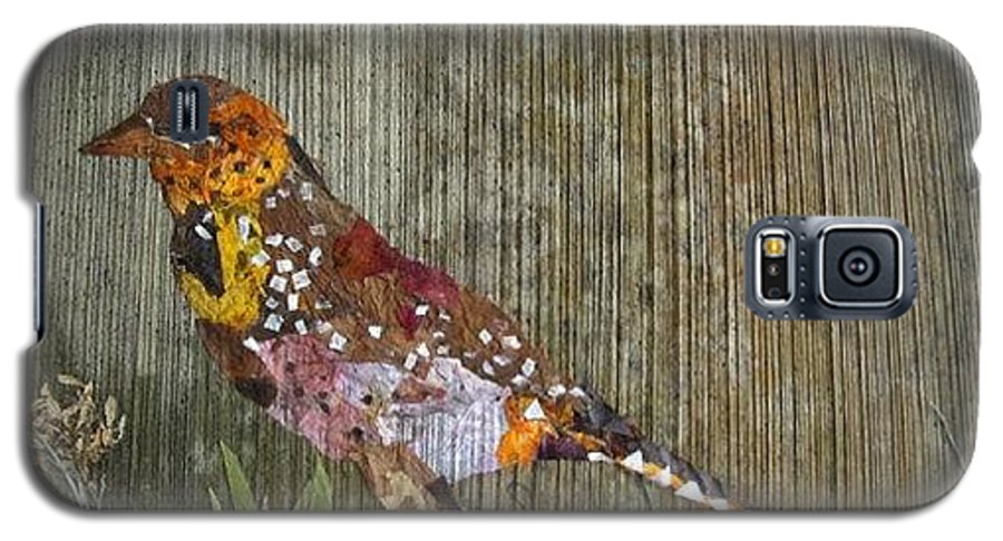 Bar-bat Bird Galaxy S5 Case featuring the mixed media Bird Barbet by Basant Soni