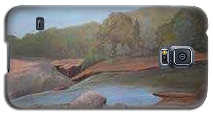 Rick Huotari Galaxy S5 Case featuring the painting Black River Falls by Rick Huotari
