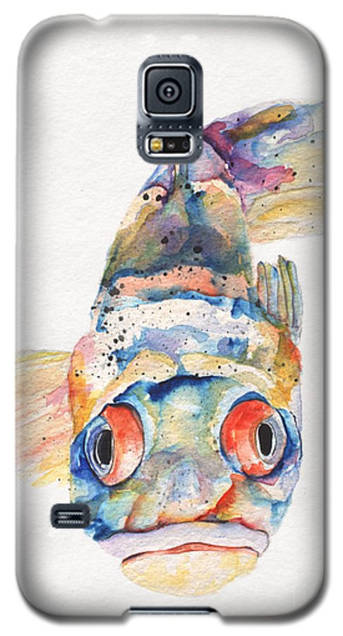Pat Saunders-white Galaxy S5 Case featuring the painting Blue Fish  by Pat Saunders-White