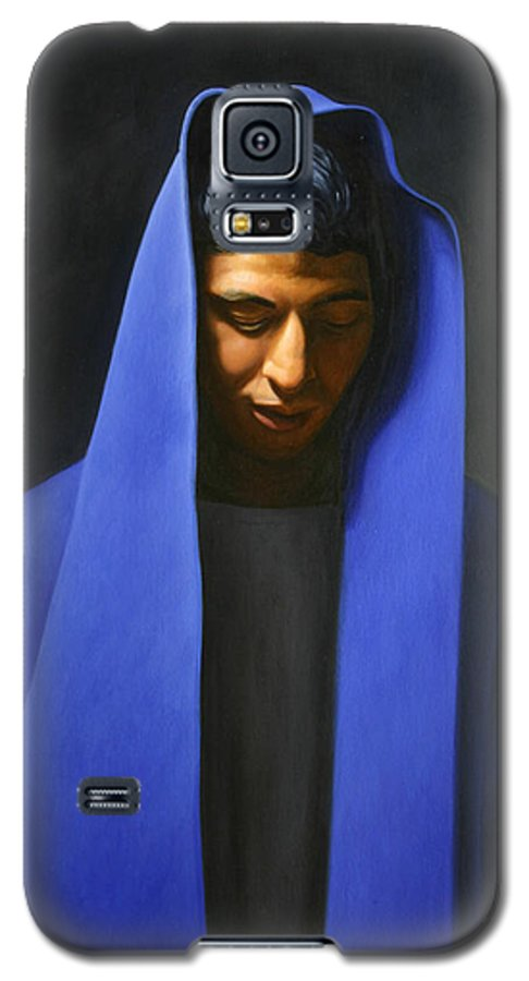Blue Galaxy S5 Case featuring the painting Blue by Gary Hernandez