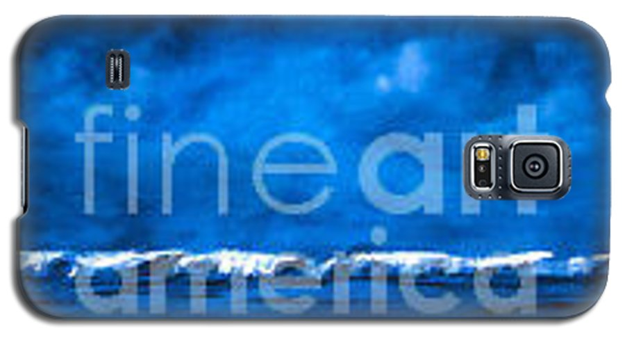 Abstract Galaxy S5 Case featuring the painting Blue On Blue by Wendy Froshay