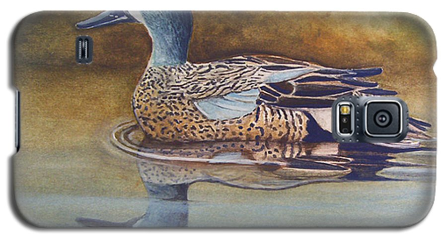 Rick Huotari Galaxy S5 Case featuring the painting Blue Winged Teal by Rick Huotari
