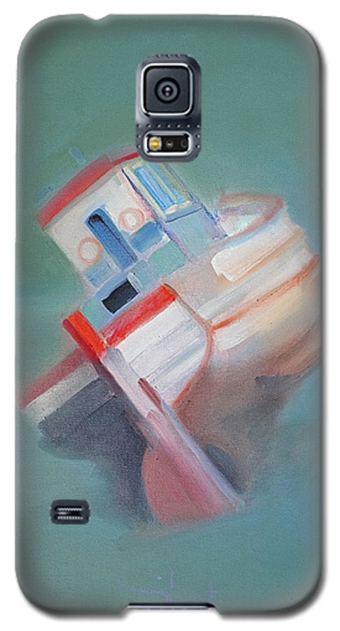 Fishing Boat Galaxy S5 Case featuring the painting Boat Retired Tavira by Charles Stuart