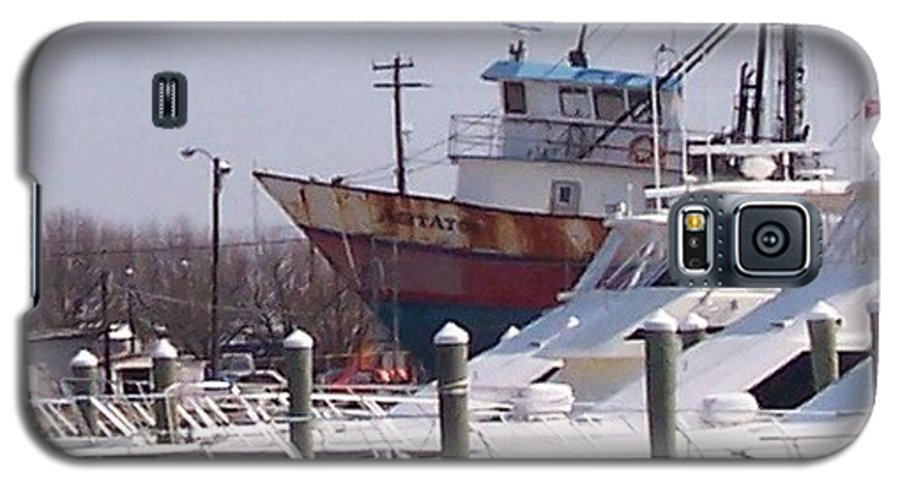 Boat Galaxy S5 Case featuring the photograph Boats Docked by Pharris Art