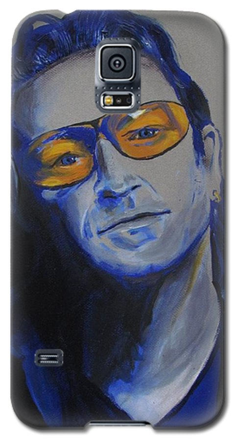Celebrity Portraits Galaxy S5 Case featuring the painting Bono U2 by Eric Dee