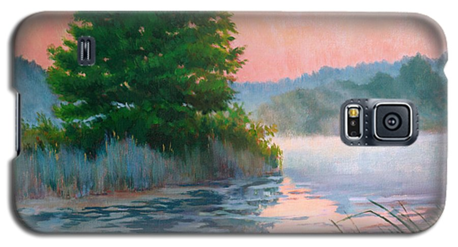 Impressionism Galaxy S5 Case featuring the painting Break Of Day by Keith Burgess
