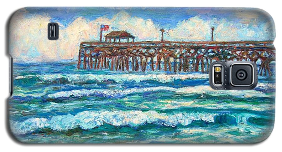 Shore Scenes Galaxy S5 Case featuring the painting Breakers At Pawleys Island by Kendall Kessler