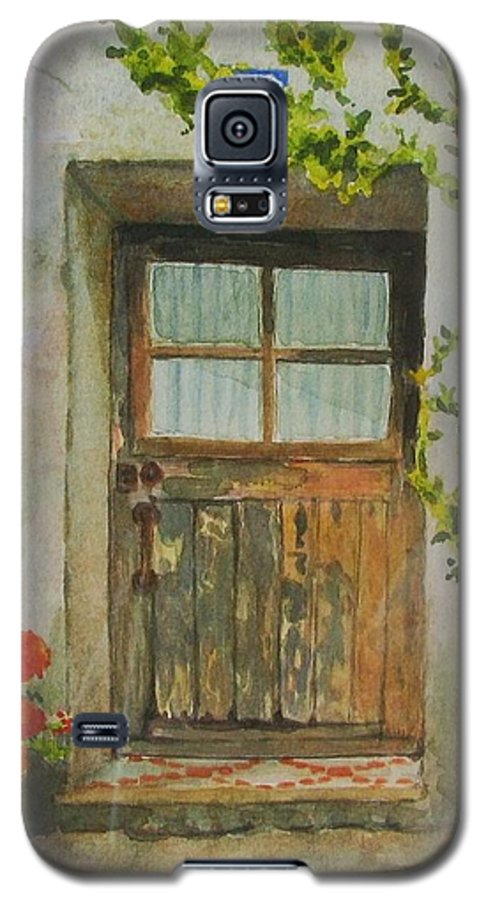 Door Galaxy S5 Case featuring the painting Brittany Door by Mary Ellen Mueller Legault