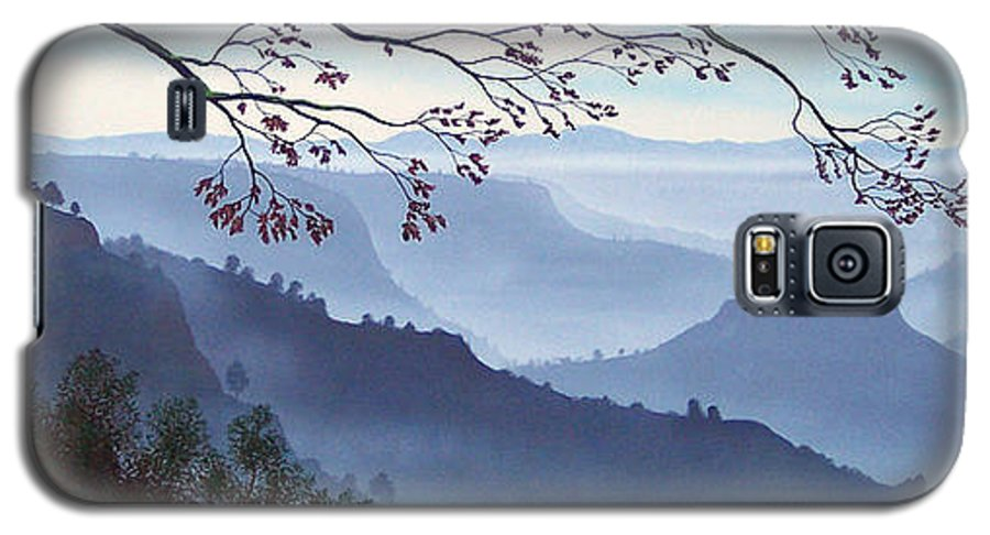 Mural Galaxy S5 Case featuring the painting Butte Creek Canyon Mural by Frank Wilson